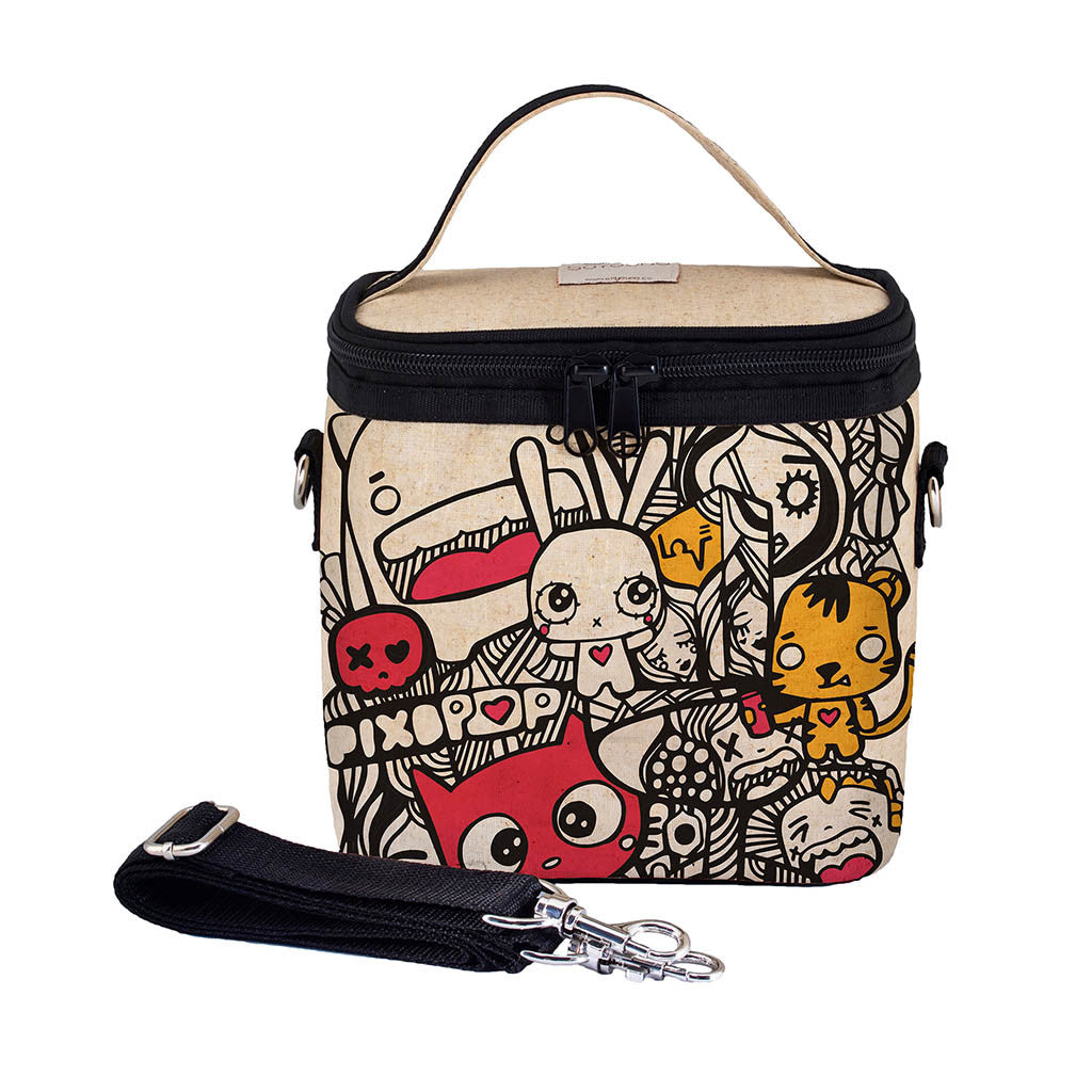 PIXOPOP PISHI AND FRIENDS SMALL COOLER BAG
