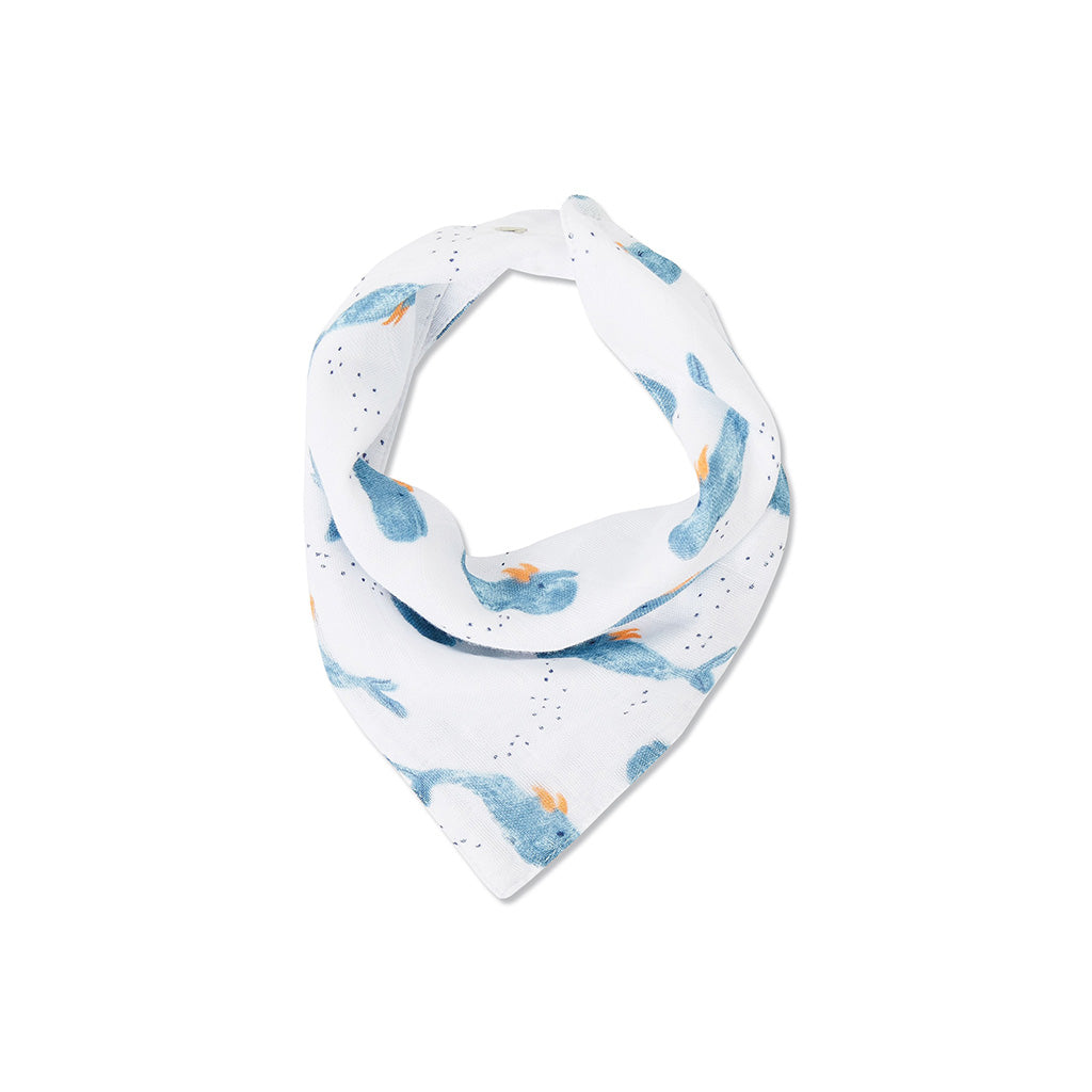 Angel Dear Kids accessories Whale Muslin Bib - Ever Simplicity