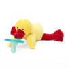 WubbaNub Kids Toys Yellow Duck Pacifier W/Orange Feet - Ever Simplicity