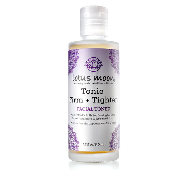 Facial toner for firming and tightening the skin. Contains DMAE.