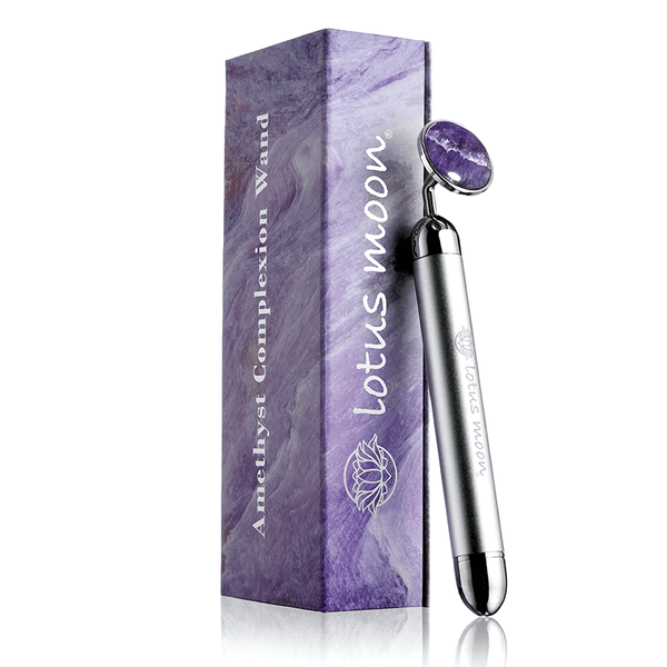 Amethyst Vibrating Complexion Wand - The stimulation of the skin results in improved circulation, which ultimately helps produce collagen and elastin