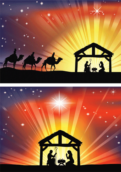 Christmas Nativity (pack of 8)