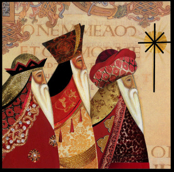 Three Kings with foil Christmas Cards (pack of 8)