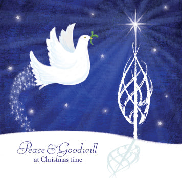 Peace and Goodwill Dove Christmas Cards (pack of 8)