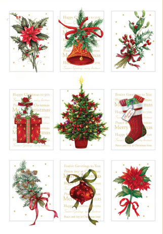 Christmas Florals with Foil Christmas Cards (pack of 8)