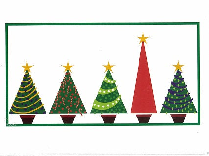 Christmas Trees Christmas Cards (pack of 8)