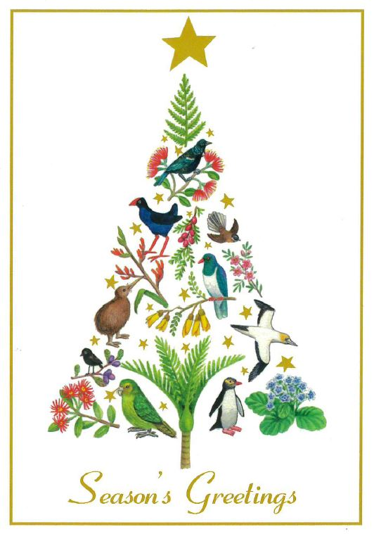 Flora and Fauna Tree Christmas Cards (pack of 8)