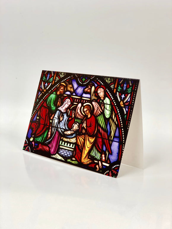 Stained Glass Window Christmas Cards (pack of 8)