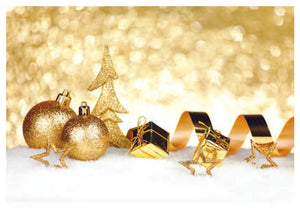 Golden Decorations Christmas Cards (pack of 8)