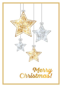 Sparkling Stars Christmas Cards (pack of 8)