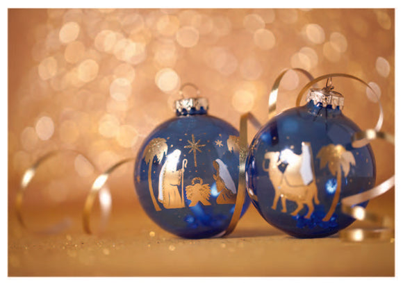 Nativity Baubles Christmas Cards (pack of 8)