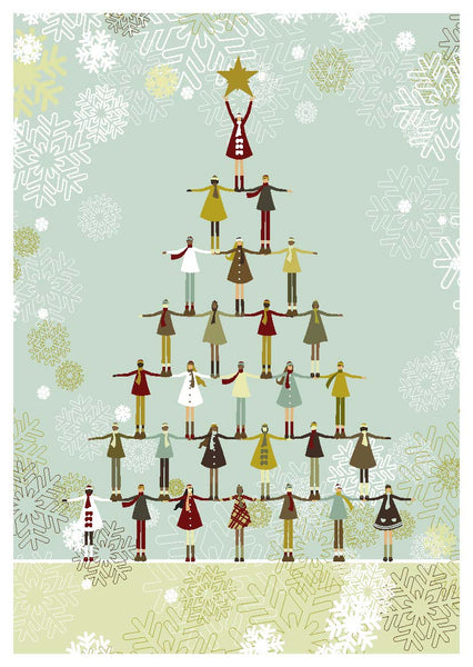 The Tree of Children Christmas Cards (pack of 8)
