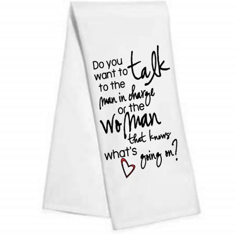 Do you want to talk.....Kitchen/Bar Towel
