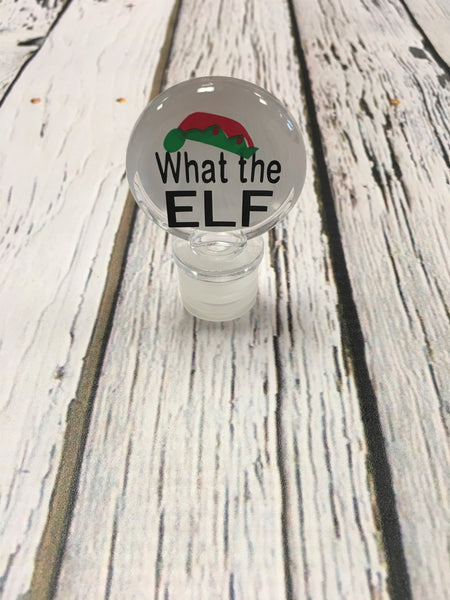 Wine Stopper-What the Elf