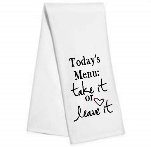 Today's Menu......Kitchen/Bar Towel