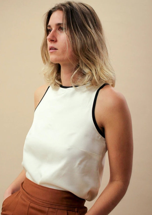 Pony Top | Ivory Wool Tank - Street and Saddle