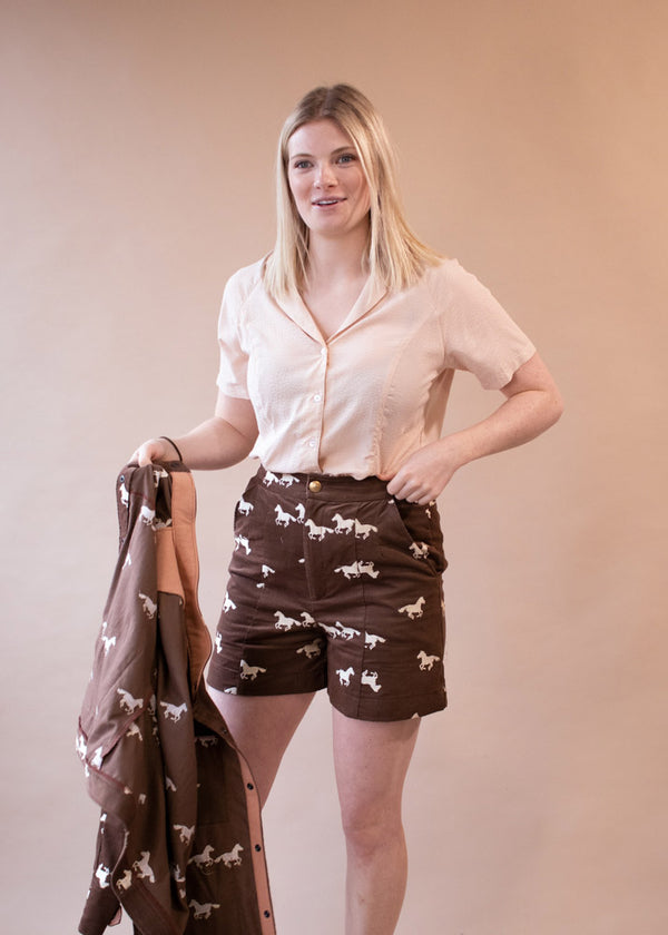 Pony Corduroy Shorts | High Waist Corduroy Shorts - Street and Saddle