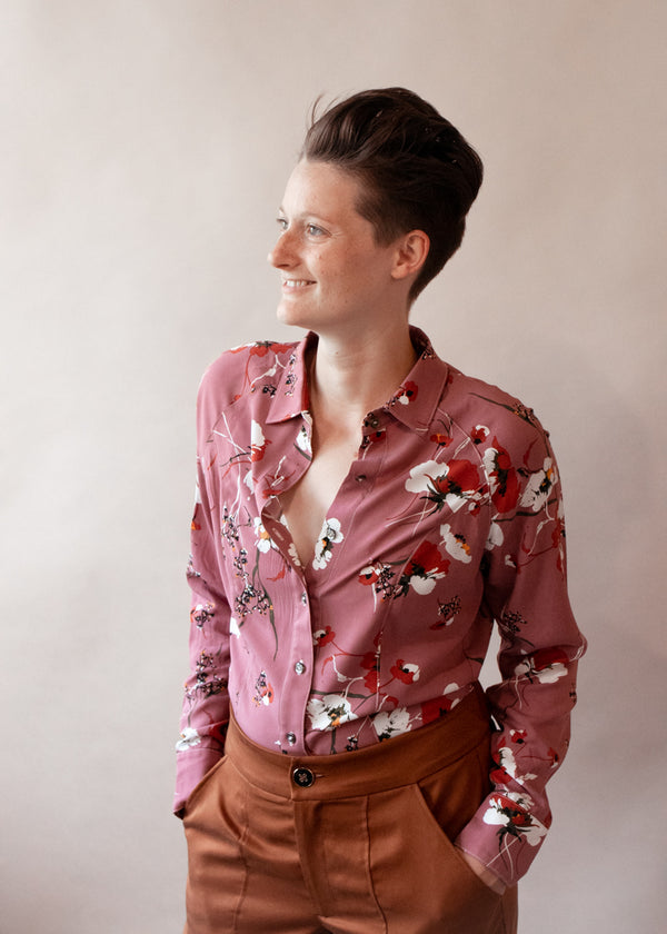 Horse Camp | Long Sleeve Floral Blouse, Street_and_Saddle, vacation_plus_size_workwear