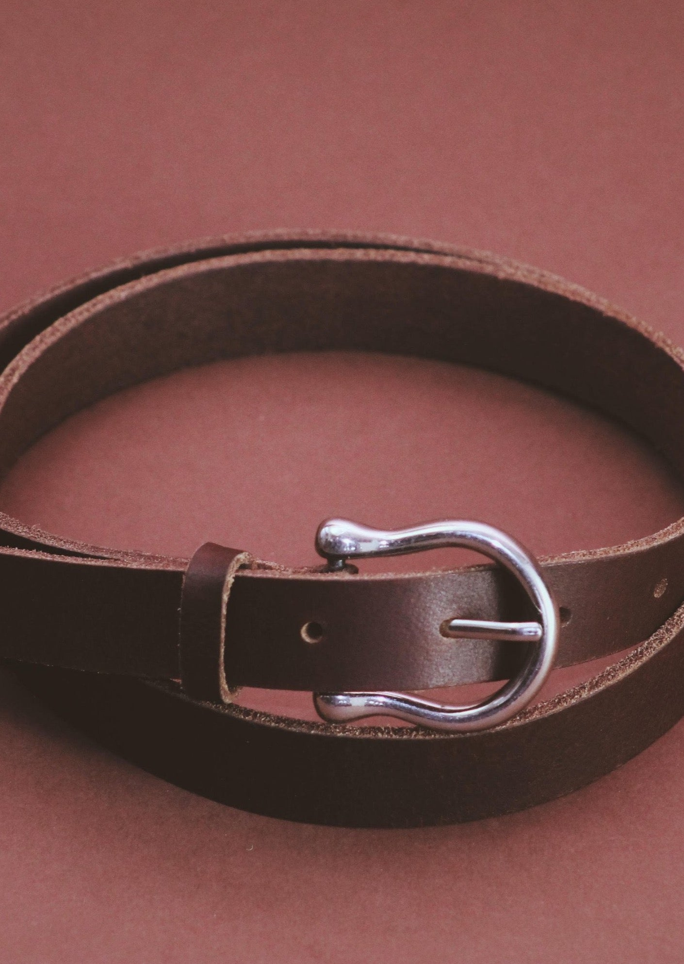 Bridle brown Horseshoe belt, [Street_and_Saddle], [Horse_Girl_Equestrian_Canadian_Sustainable_Essential]