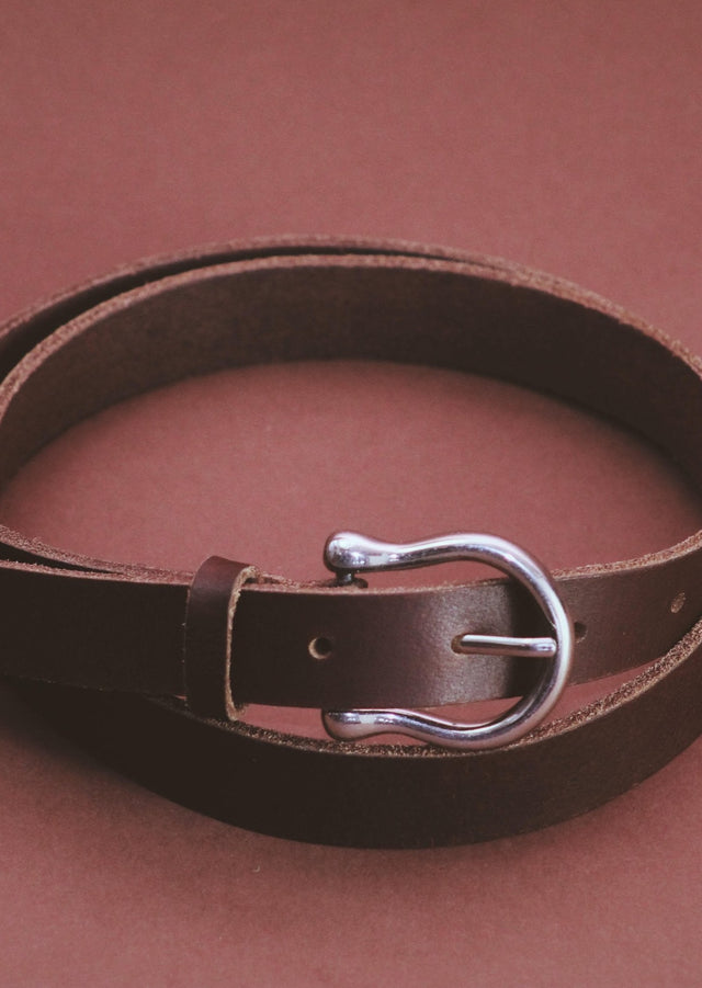 Bridle brown Horseshoe belt - Street and Saddle Local Equestrian Canadian Sustainable Ecofriendly