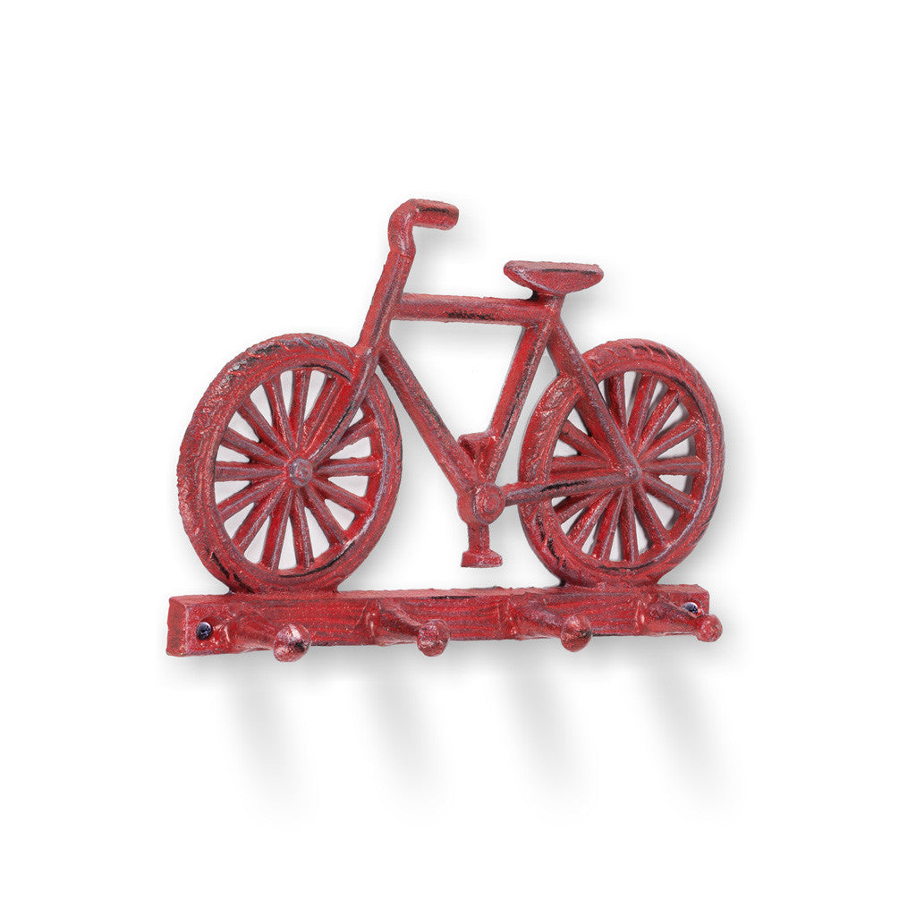 Red Bicycle Wall Hook