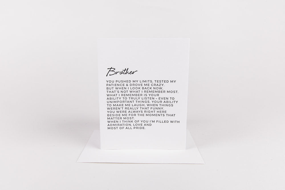 Letter to Brother Card
