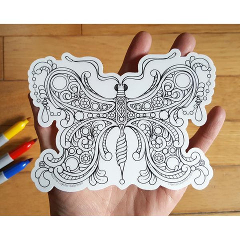 Butterfly Vinyl Colouring Sticker