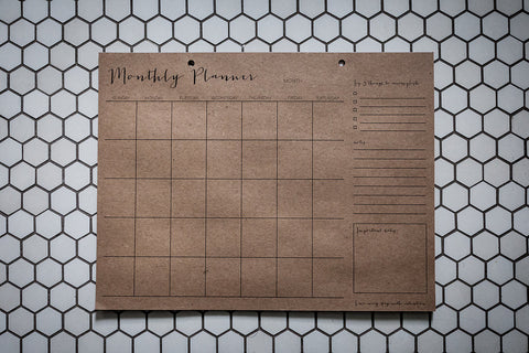 Monthly Planner Kraft Notepad