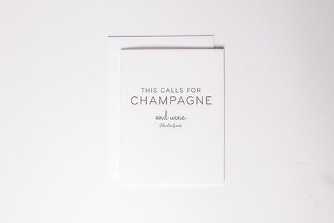 Champagne & Wine Card