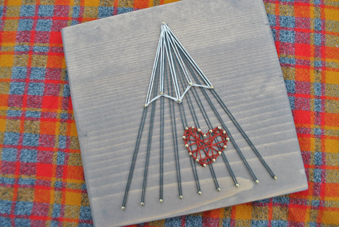 Heart Single Peak Mountain String Art