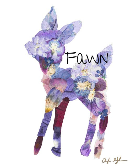 Fawn Pressed Flower Art Print