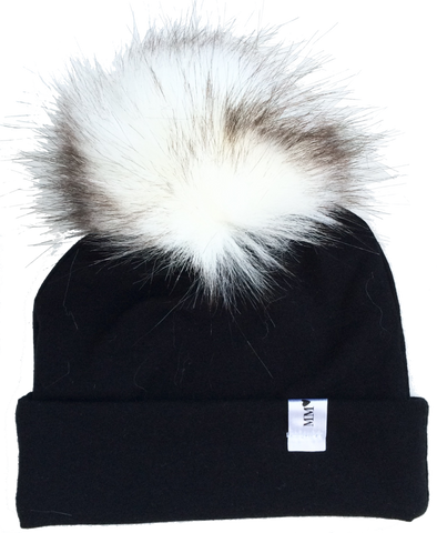 Black Flip Rim Toque