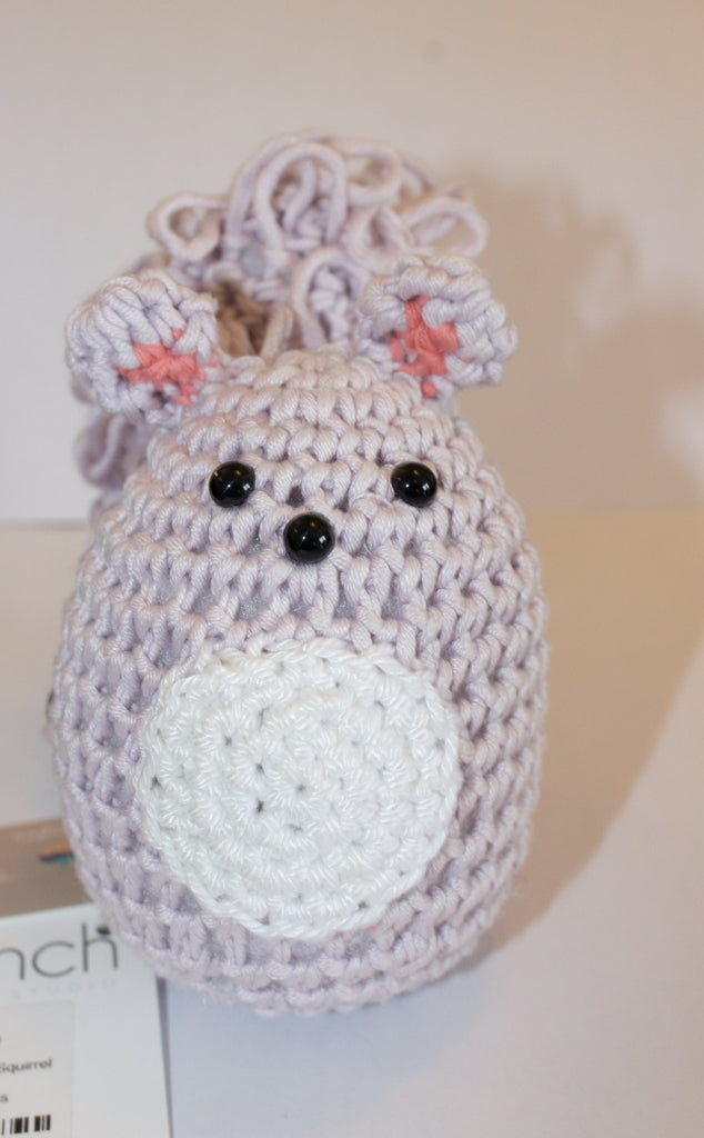 Lilac Crochet Squirrel