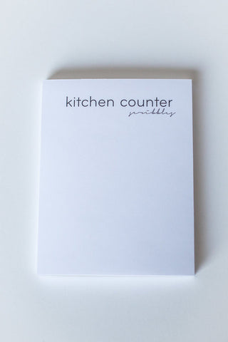 Kitchen Counter Scribbles Notepad