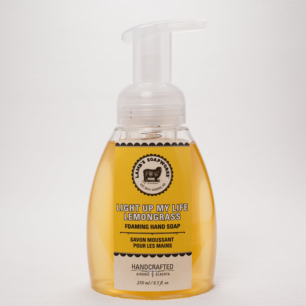 Light Up My Life Lemongrass Moisturizing Foaming Hand Soap