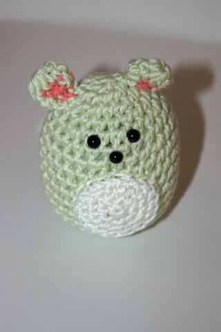 Mint Green Crochet Mouse