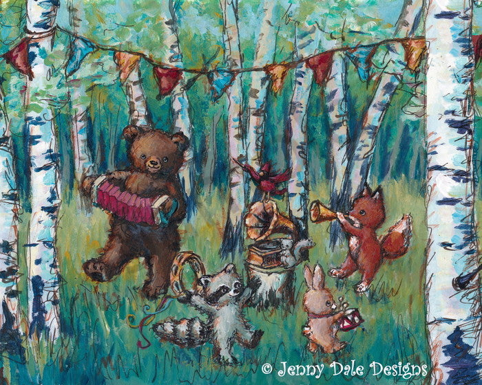 Forest Party Art Print