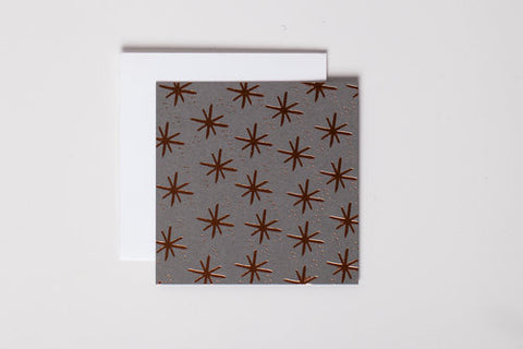 Rose Gold Stars Mini Notecard