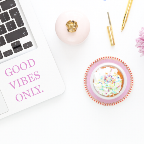 Good Vibes Only Laptop Decal