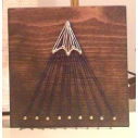 Single Peak Mountain String Art