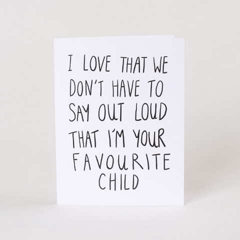 Fave Child Card