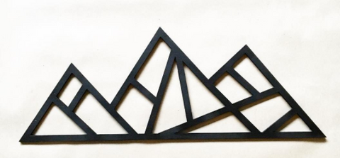 Laser Cut Mountain