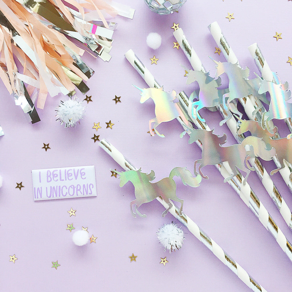 Unicorn Straws