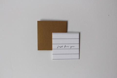 Just For You Mini Notecard