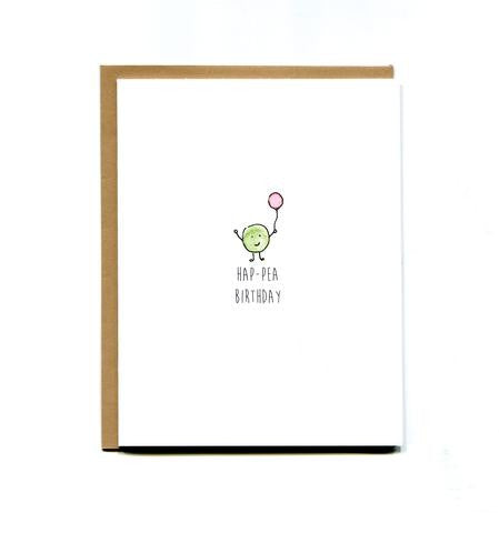 Pea Birthday Card