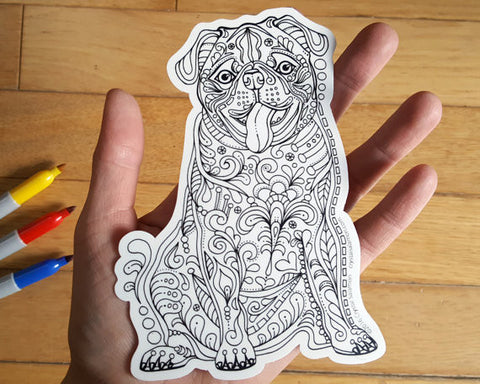 Dog Vinyl Colouring Sticker