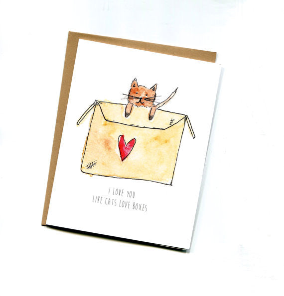 Cat in a Box Card