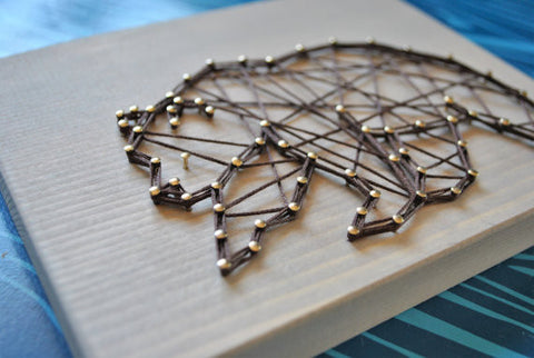 Geo Bear String Art
