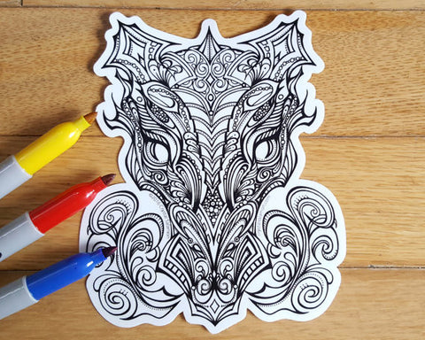 Dragon Vinyl Colouring Sticker