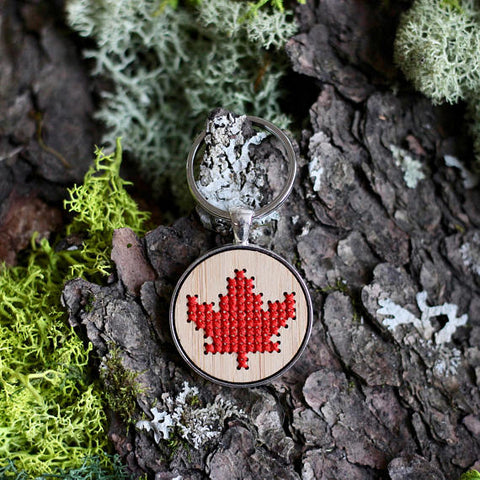 Maple Leaf Keychain Kit
